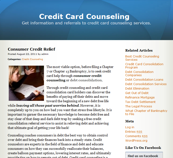 credit card counseling