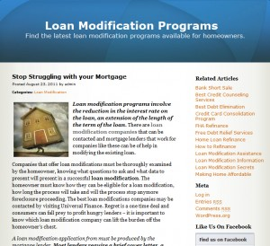 loan modification programs