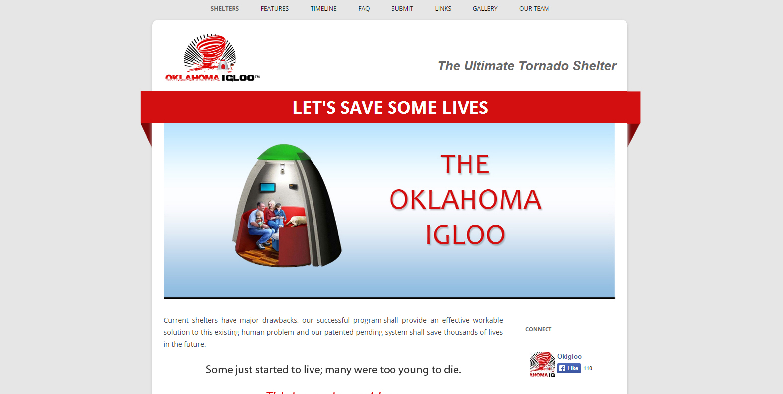 Quick website for the OK IGLOO