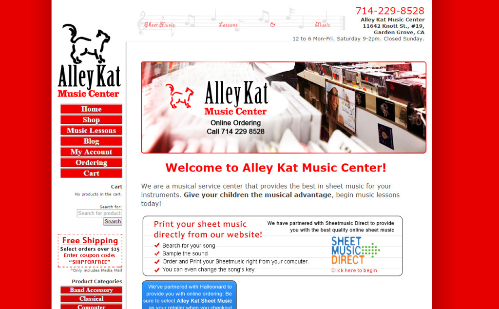 Music Store Website